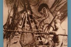 Aad-de-Haas-Tijdens-zijn-werk-aan-de-wandschildering-De-Spijbelaar-in-het-Bernardinuscollega-1956