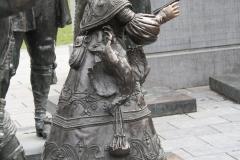 Amsterdam-201-Nachtwacht-bij-Rembrandtmonument-detail