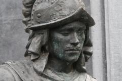 Amsterdam-216-Nachtwacht-bij-Rembrandtmonument-detail