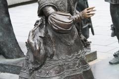 Amsterdam-227-Nachtwacht-bij-Rembrandtmonument-detail