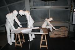 Brussel-0618-Atomium-Kunstwerk-van-bouwvakkers