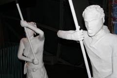 Brussel-0624-Atomium-Kunstwerk-van-demonstratie