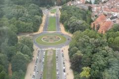 Brussel-0556-Atomium-Uitzicht-op-rijbaan-met-rotonde