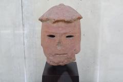 Johan-Creten-Verzameling-Haniwa-Head-Kofun-Periode-4de-6de-eeuw