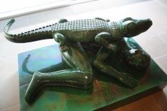 Mimmo-Paladino-1994-Uomo-e-coccodrillo-1
