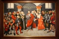 Lucas-Cranach-de-Jonge-1549-Christus-en-de-overspelige-vrouw