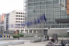 Brussel-1094-Vlaggen-voor-Gebouw-van-de-Europese-Commissie