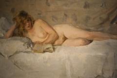 Museum-Jan-Cunen-115-Isaac-Israels-ca-1894-1900-Lezend-Naakt-Sjaantje-van-Ingen