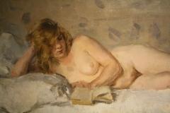 Museum-Jan-Cunen-116-Isaac-Israels-ca-1894-1900-Lezend-Naakt-Sjaantje-van-Ingen-detail