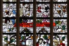 2016-04-08-Delft-Oude-Kerk-026-Raam-Spraakverwarring-Babylon-en-hereniging-volken-rond-Heilig-Avondmaal