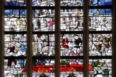 2016-04-08-Delft-Oude-Kerk-027-Raam-Spraakverwarring-Babylon-en-hereniging-volken-rond-Heilig-Avondmaal