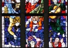 2016-04-08-Delft-Oude-Kerk-051-Raam-Verkondiging-aan-Maria-Boodschap-aan-herders-aanbidding-door-Wijzen