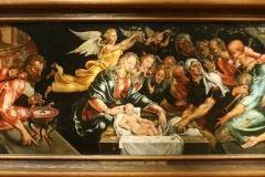 Maerten-van-Heemskerck-1545-ca-De-aanbidding-door-de-herders-met-Zelomi-en-Salome-1