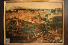 Maerten-van-Heemskerck-1550-ca-Gezicht-op-Rome-met-barmhartige-Samaritaan
