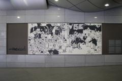 Brussel-1350-Striptekening-van-Herge-in-Centraal-Station