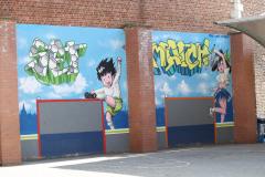 Sint-Truiden-319-Muurschildering-op-speelplaats-bij-school