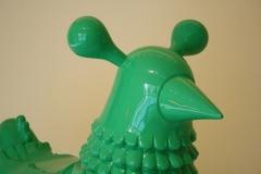 Groninger Museum 271 Jaime Hayon - 2006-2013 - Green Chicken [detail]