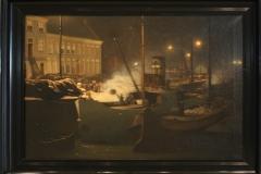 Groninger Museum 093 Bernardus Bueninck - 1910 - Lopende diep met de loskade van de Hunzeboten te Groningen