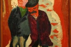 Groninger Museum 183 Jan Wiegers - 1924 - Twee mannen in de sneeuw