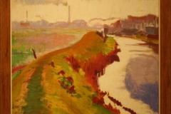 Groninger Museum 187 Jan Altink - 1927 - Dijk langs het Reitdiep