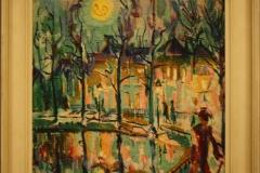 Groninger Museum 195 George Martens - 1927 - Stadsgezicht bij maanlicht