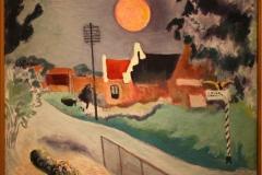 Groninger Museum 198 Ekke Abel Kleima - 1931 - Warffum met rode maan