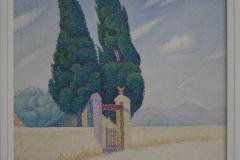 Paul Signac - 1893 - De Twee Cipressen, Opus 214 [mistral] 1