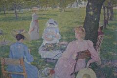 Théo van Rysselberghe - 1890 - De Boomgaard of De Familie In de Tuin [detail 4]