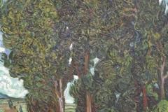 Vincent van Gogh - 1889 - Cipressen met Twee Figuren