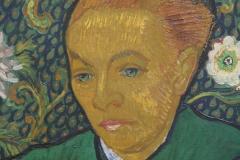 Vincent van Gogh - 1889 - La Berceuse [Portret van Madame Roulin] [detail]