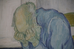 Vincent van Gogh - 1890 - Treurende Oude Man [detail]