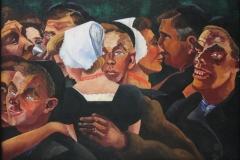 Charley Toorop - 1927 - Muzikanten en Dansende Boeren [detail 2]