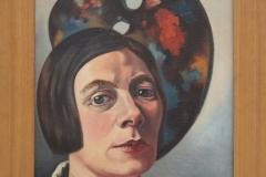 Charley Toorop - 1934 - Zelfportret tegen palet