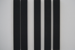 Gerhard von Graevenitz - 1974 - Kinetisch Object, 5 zwarte rechthoeken op wit