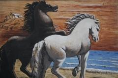 Giorghio de Chirico - 1926 of 1927 - Paarden, langs de Zee galopperend 2