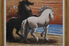 Giorghio de Chirico - 1926 of 1927 - Paarden, langs de Zee galopperend