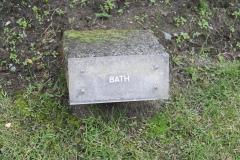 Brussel-0816-Mini-Europe-Naambord-Bath-Groot-Brittannië