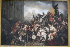 13 Gustaf Wappers - 1835 - Tafereel van de Septemberdagen 1830 op de Grote Markt