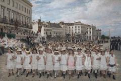3 Jan Verhas - 1880 - De optocht van de scholen in 1878