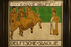 Leon-Senf-1900-ca-Tegeltableau-Delftsche-Slaolie-Dame-Seule