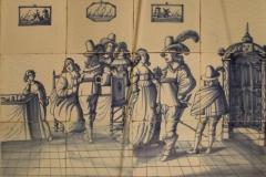 Anoniem-1625-1675-Tegeltableau-met-Vrolijk-gezelschap