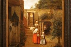 Pieter-de-Hooch-1658-1660-Vrouw-met-kind-op-binnenplaats-1