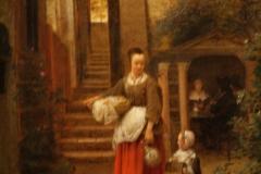 Pieter-de-Hooch-1658-1660-Vrouw-met-kind-op-binnenplaats-2