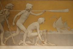 Rijksmuseum-Amsterdam-097-Wandschildering-Scheepvaart-detail