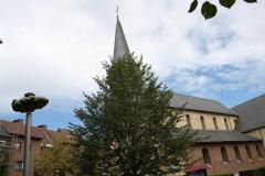 Sint-Truiden-091-Wolk-door-Luc-vd-Hallen-1998-en-toren-Gangulfuskerk