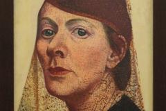 Charley-Toorop-1938-Zelfportret-met-hoed-en-voile