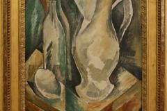 Henri-Laurens-1915-1917-Fles-glas-en-krant