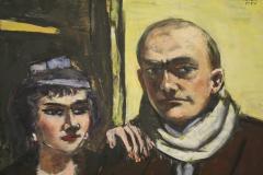 Max-Beckmann-1941-Dubbelportret-van-de-kunstenaar-en-zijn-vrouw-Quappi-2-detail