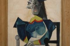 Pablo-Picasso-1942-Zittende-vrouw-met-vishoed-1