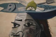 Pablo-Picasso-1942-Zittende-vrouw-met-vishoed-3-detail